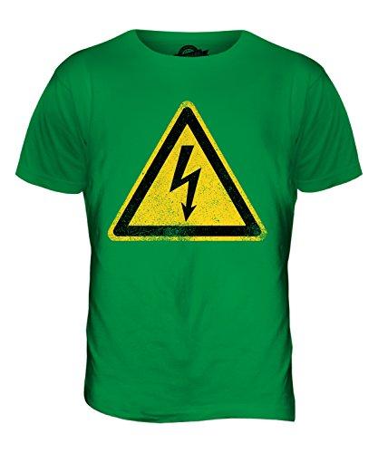CandyMix Warnung Vor Elektrischer Spannung Herren T Shirt Grün