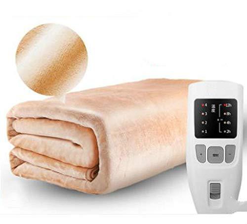 RESUXI Heizdecke Doppel, 180cm Sicherheit Dual Temperature Timing Controller Elektrische Bettdecke Elektrische Haushaltsmatratze Weiche Matte Wärmer Heizkissen@EIN_180x120cm
