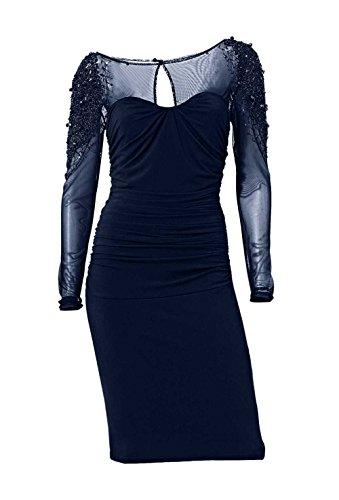 Cocktailkleid m. Perlen, nachtblau von Ashley Brooke event Grösse 42