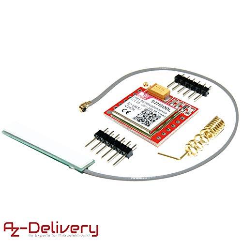 AZDelivery ⭐⭐⭐⭐⭐ Modulo SIM800L GSM GPRS con Antenna per Arduino con eBook gratuito!