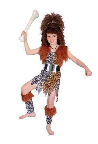 Imagen de disfraz de niña de cavernícola con peluca. 10  13 años