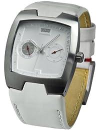 a8cd2c5ef4d0 Levi s L003GICWRW - Reloj analógico de mujer de cuarzo con correa de piel  blanca