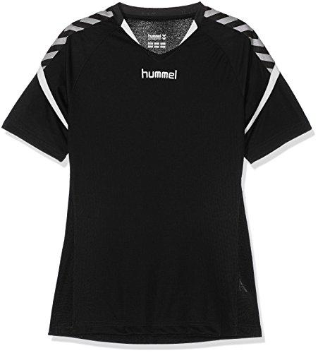 Hummel Kinder Auth. Charge Short Sleeve Poly Jersey Trikot, Schwarz, 140-152