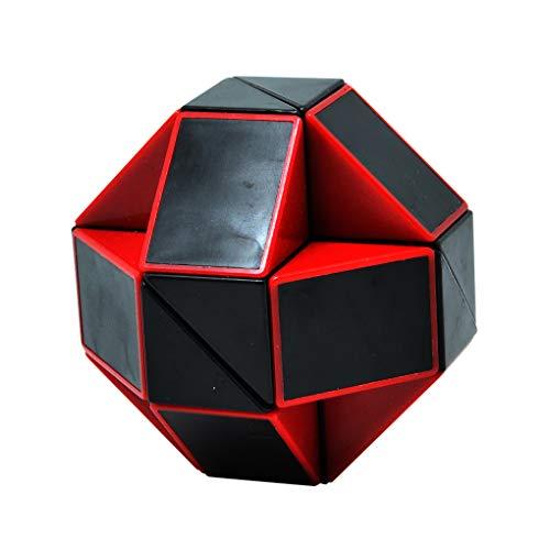 Puzzle Schlange Spielzeug 3D-Puzzle 108 Wedges Magischer Herrscher Magic Ruler Cube(Schwarz/Rot) ()