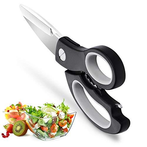 here, Multifunktions haushaltsschere, Edelstahl Schere küche, Mehrzweckschere zum Fleisch, Geflügel, Hähnchen, Fischen ()