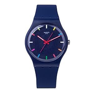 swatch spice it up unisex armbanduhr 41mm blau schweizer. Black Bedroom Furniture Sets. Home Design Ideas