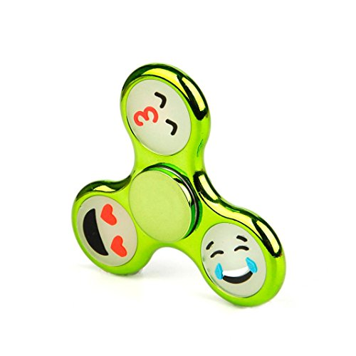 Anglewolf Luminous Triangle Single Finger Decompression Gyro Hand Spinner Fingertip Gyro (green)