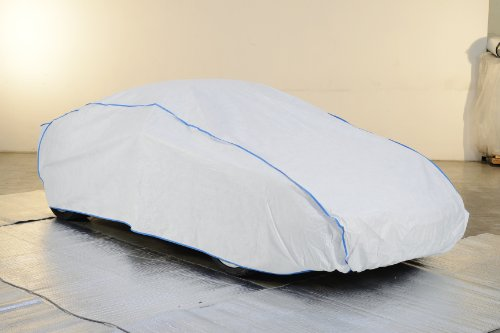 Preisvergleich Produktbild Whole garage, Full garage, car cover Ford MUSTANG Coupé since 2015 in white from Tyvek with storage bag