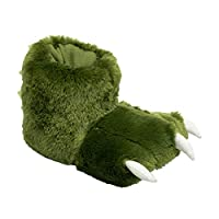 Lazy One Green Dino Paw Slippers