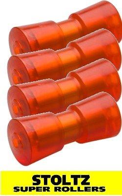 4 Stück STOLTZ Super Rollers RP-8 mit Metallkern