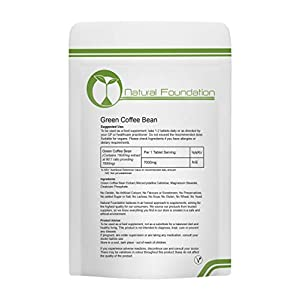 Green Coffee Bean Extract 7,000mg High Strength Tablets Healthy, Slimming, Ageing, Weight Loss & Control, Antioxidant, Energy & Body Tissue | Natural Foundation Supplements (1000)