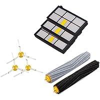 Amoy Kit de cepillos de filtros para iRobot Roomba series 800 y 900 980 966 960 865 870 875 876 kit de recambio