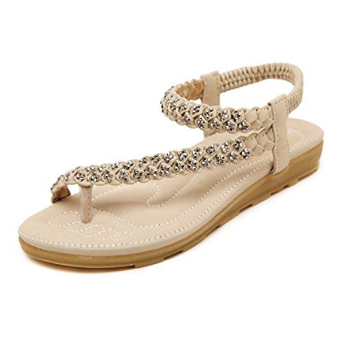DQQ da donna, con cordoncino Sandalo con cinturino alla caviglia Beige (beige)