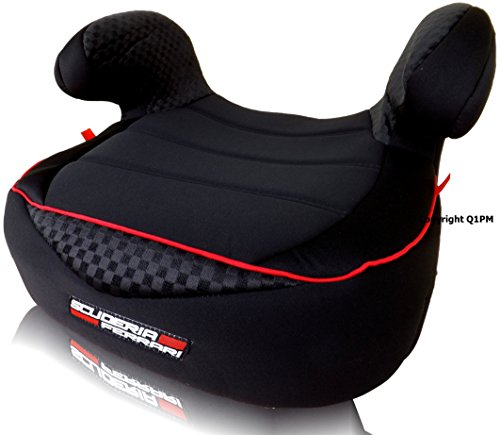 FERRARI BLACK DREAM KINDERSITZERHÖHUNG SITZERHÖHUNG AUTOSITZ KINDERSITZ 15-36 kg