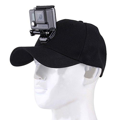 puluz Baseball Mütze mit J-Haken-Schnalle Mount & 1/10,2cm Schraube für alle GoPro, SJ und xiaoyi Kameras, schwarz Angels Baseball-team