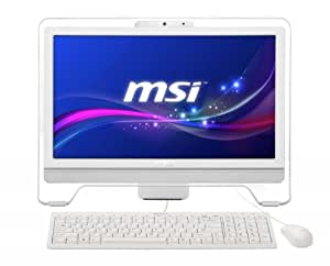 MSI AE2051-030 Ordinateur Tout-en-Un 20'' (50,80 cm) AMD E Series 1,7 GHz 500 Go 4096 Mo AMD Radeon Windows 8 Blanc