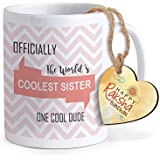 Tied Ribbons Rakhi Return Gift For Sister, Gift Ideas For Sisters On Rakhi Printed Coffee Mug With Happy Rakshabandhan Tag
