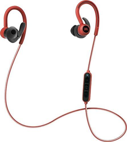 Image of JBL Reflect Contour Kabellose Bluetooth Sport-Kopfhörer mit Over-Ear-Ohrbügel, Dual-Lock-Technologie und 3-Tasten Inline-Fernbedienung mit Mikro - Rot