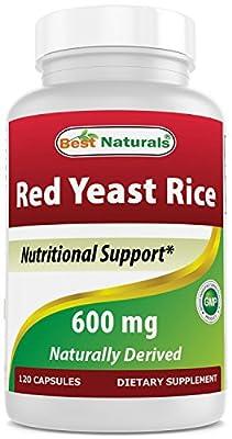 Best Naturals, Red Yeast Rice, 600 mg capsules, 120 Capsules, 2 capsules per serving/1200mg per serving from Best Naturals
