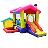 EXCLVEA Outdoor Hüpfburg Aufblasbare Bounce Castle House Kids Party Bouncy Haus mit Luft-Gebläse...