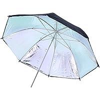Rollei Pro Reflector Umbrella Silver 83 cm - Parapluie réflecteur professionnel argenté 83 cm – Parapluie réfléchissant argenté, pour la photographie de portrait, de personnes ou de mode - Noir / Argent