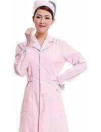 Xuanku Enfermera Farmacia Dental Blanca Manga Larga Ropa De Invierno De Monos De Trabajo Estudiante De