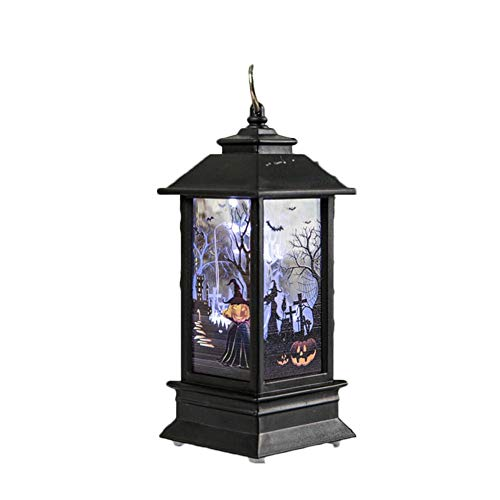Wandleuchte Laterne Vintage Pumpkin Castle Light Lampe Simulierte Flamme Kerzenlichter für Halloween Party Festival ()