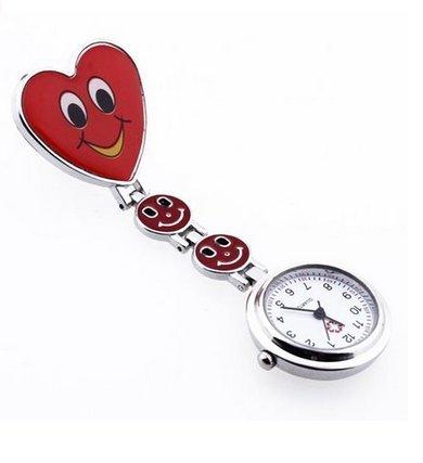 XPartner Silikon-Krankenschwester-Taschenuhr-Brosche Silikon-Gel-Taschenuhren Krankenschwester-Uhrenbrosche medizinische Broschen-Taschenuhr