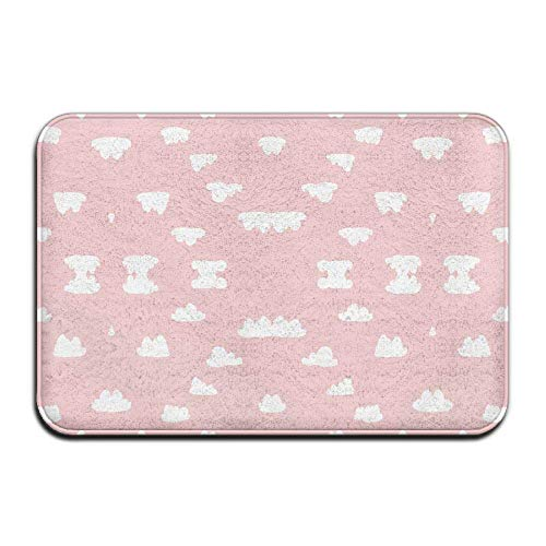 "Klotr Fußabtreter, Non-Slip Bath Mat (15.7\"" X 23.6\""), Bathroom Rug Mat, Clouds Pantone Pink Pastel Nursery Cloud Fabric (3911) Senior Design Area Rugs for Living Room"