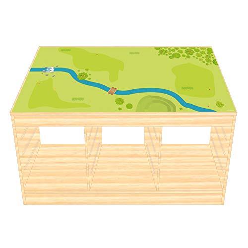 nikima Schönes für Kinder IKEA TROFAST Film décoratif pour Meubles en Bois de forêt et de Prairie pour Chambre d'enfant (Meubles Non Inclus)