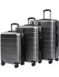 CarryOne Valise Rigide Légère Bagage | 4 Doubles à roulettes Silencieuses | Combinaison de Serrure | Valise de Mode 19TC1