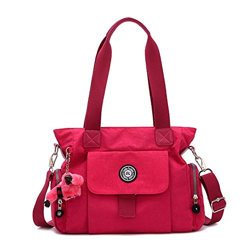 Jothin - Hobo borse Ragazza unisex da bambini donna unisex adulti Rose Red
