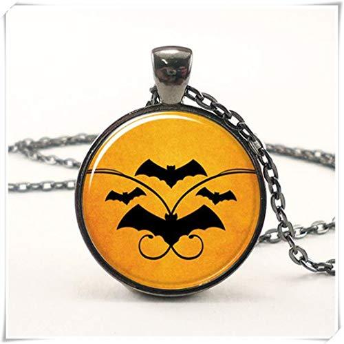 (Leonid Meteor Halskette mit Fledermaus-Anhänger, Reine Handarbeit, Kuppelglas-Ornamente, Halloween-Kostüm-Zubehör)