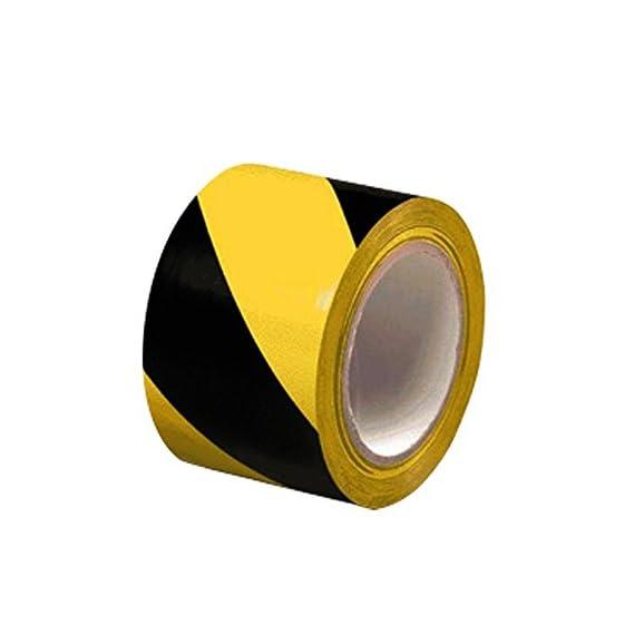 Bapna Zebra Floor Marking Tape (Yellow and Black, 72 mm x25 m)