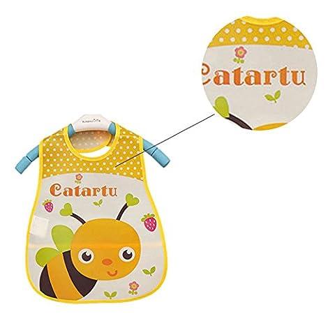 Merssavo Baby Boy Girl Kinder Lätzchen Waterproof Saliva Handtuch Cartoon Bib Fütterung Bandana EVA ?Biene