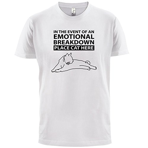 Emotional Breadown Place Cat Here - Herren T-Shirt - 13 Farben Weiß