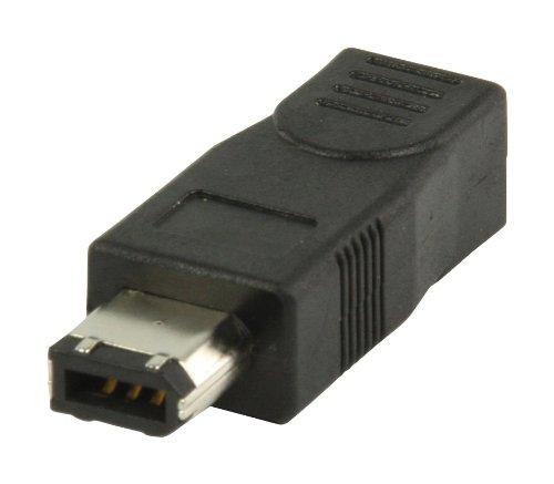 König VLCP62901B FireWire Adapter (4-polig Kupplung auf 6-polig Stecker)