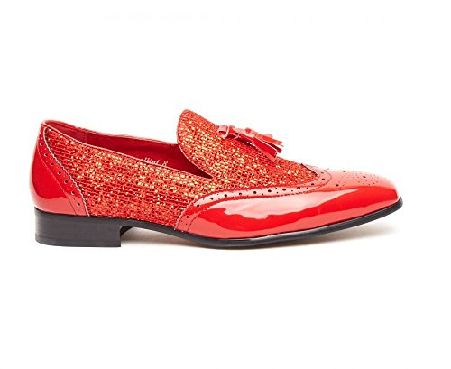 Rossellini , Mocassins pour homme red