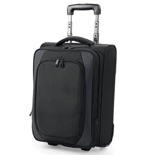 Quadra Tungsten - Bagage de cabine à roulettes (29 litres) (Taille unique) (Noir/Gris foncé)