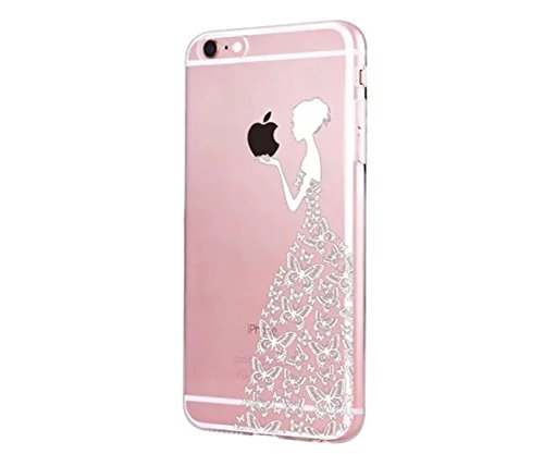 Cover iPhone 6/6S Plus Trasparente Creativo morbido Silicone Luce e sottile TPU arte pittura Serie phone case DECHYI Design# 21