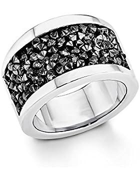 s.Oliver Damen-Ring Edelstahl Swarovski Elements