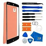 MMOBIEL Front Glas Reparatur Set für LG Google Nexus 5 (Schwarz) Display Touchscreen mit 11 TLG. Werkzeug-Set inkl passgenauem Klebe-Sticker/Pinzette / Saugnapf/Metall Draht/Tuch