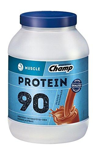 Champ Muscle Protein 90 Eiweißshake (780 g) - Protein Shake mit Schoko-Geschmack - Eiweißpulver mit 36 g Protein pro Portion - enthält Vitamine - ohne Aspartam