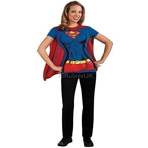 Rubies Supergirl Damen T-shirt Kostüm - Blau, 42-44