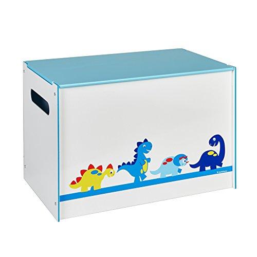 Hello Home 474DIE - Juguetero con diseño dinosaurio, color blanco y azul