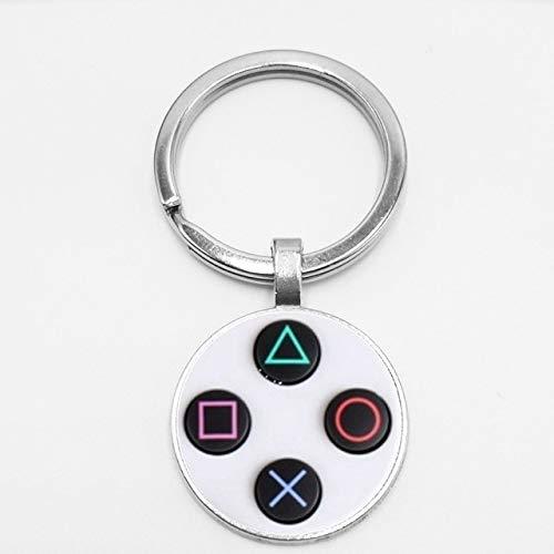 lotuwio Game Controller Schlüsselanhänger Playstation Kreative Schmuck Video Spiel Controller Muster Schlüsselanhänger Geschenke Für Männer 1 (Video-spiele Schlüsselanhänger)