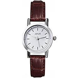Student casual leather strap watch/Fashion quartz watch/Simple casual watches-B
