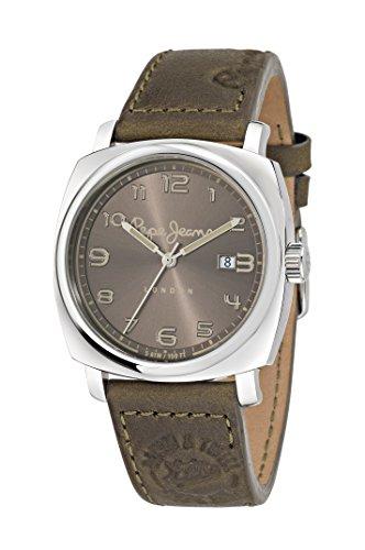 Pepe Jeans Howard hommes de montre à quartz avec Marron Cadran Affichage Analogique et Bracelet en Cuir Marron r2351111004