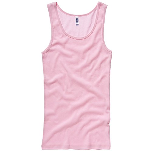 Bella Damen Canvas 1080 Baby Rib Tank Top Rosa - Pink