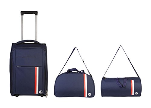 3G Polyester Set Of 3 Softsided Blue Luggage Set